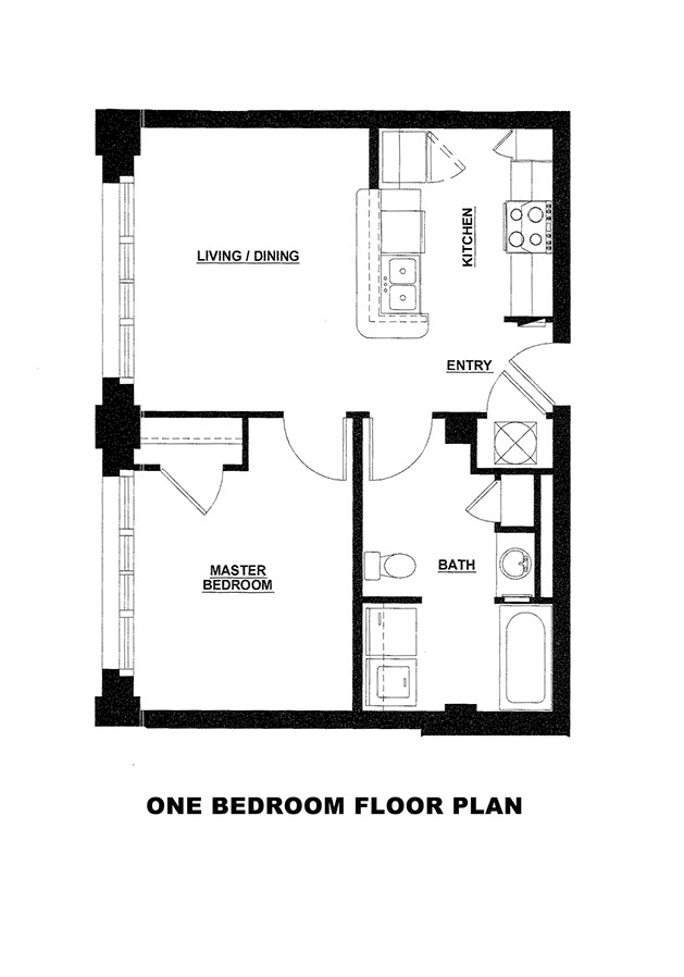 One bedroom floor plans with loft floor plans catalyst for Studio loft apartment floor plans